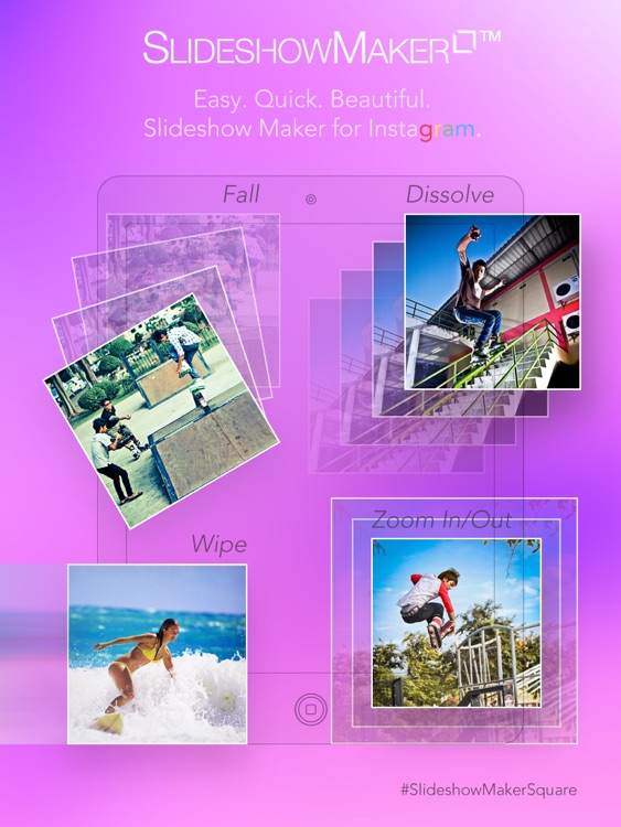 Slideshow Maker Square - Video Slideshow Generator with Photos Musics and Text Caption for Instagram