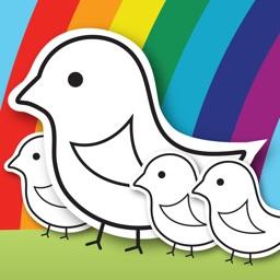 لعبة دفتر الألوان للأطفال، تلوين الرسوم للاطفال الكثير من الرسوم لتلوينها