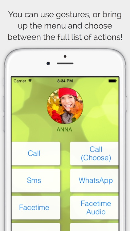 CallRight Free   -  call and text your favorite contacts with just one tap! screenshot-3