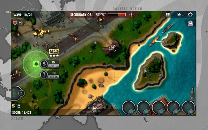 iBomber Defense Pacific screenshot 2