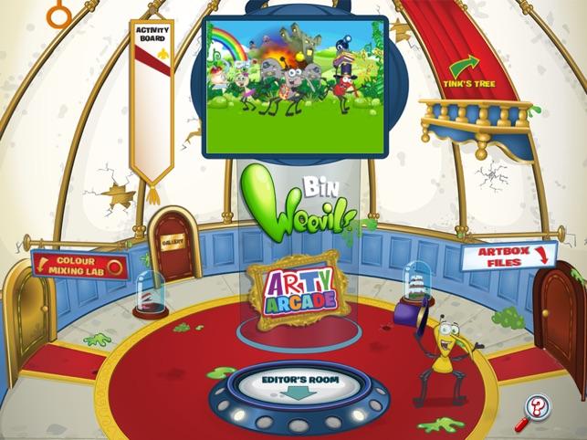 Bin Weevils Arty Arcade on the App Store