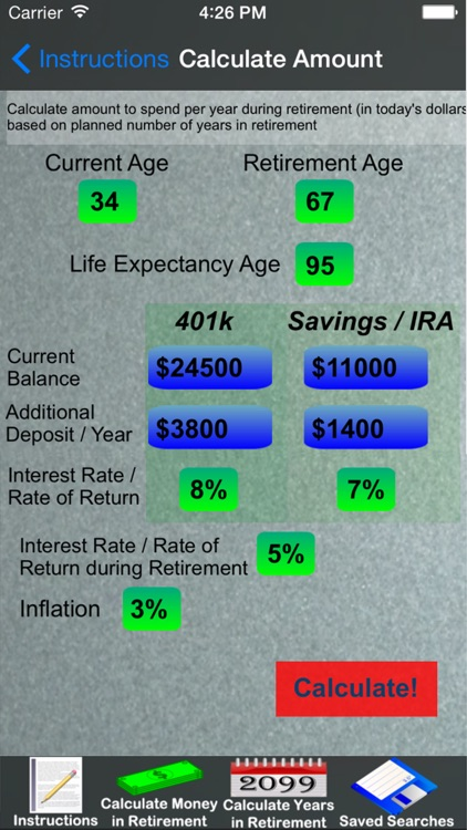 Easy Retirement Calculator screenshot-3