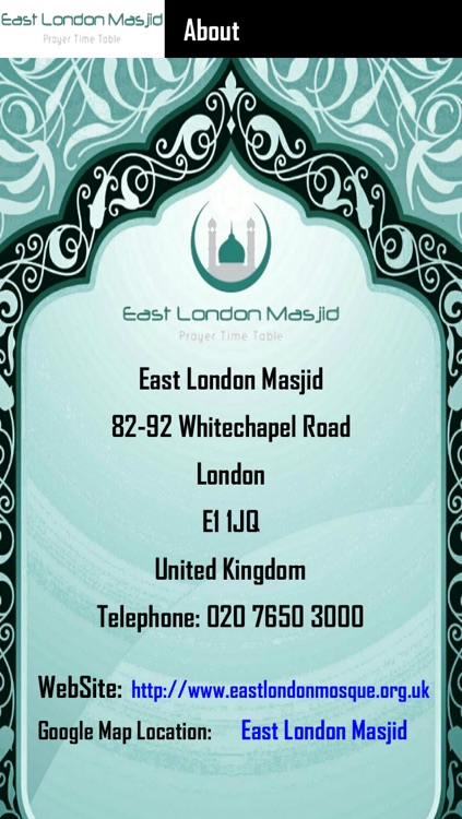 East London Masjid Prayer Time Table screenshot-4