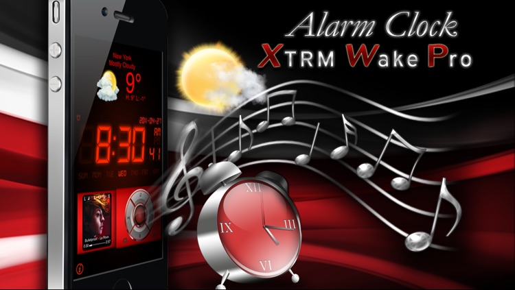 Alarm Clock Xtrm Wake Pro - Weather + Music Player
