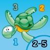 海、水、魚、亀、ウナギやカニと幼稚園、幼稚園や保育園のためのゲームやパズル:海の動物についての子供の年齢2-5のためのゲーム - iPhoneアプリ