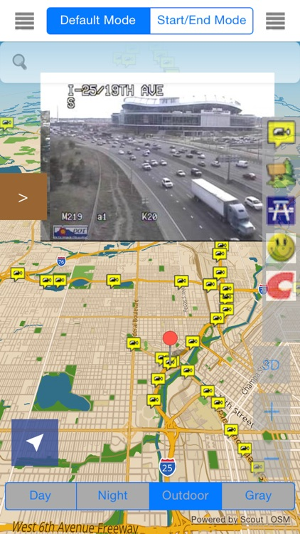 Colorado/Denver Offline Map with Traffic Cameras Pro