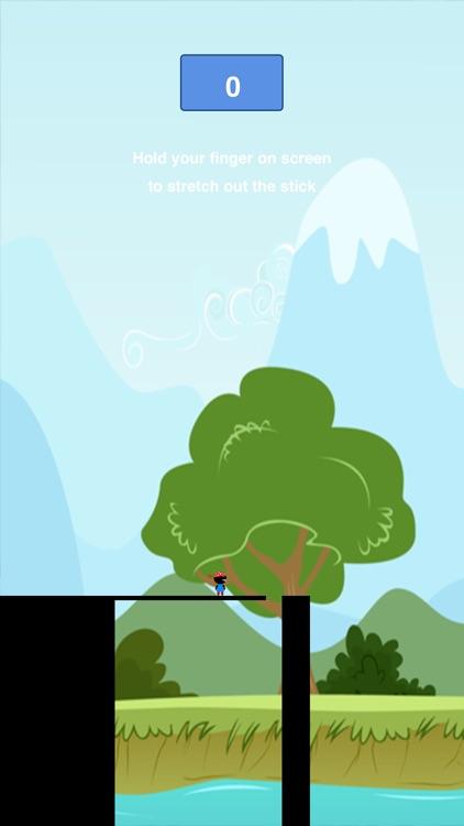 Pocket Bridge Dude Ninja - Hold Stick to Reach Tower screenshot-4