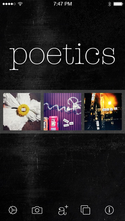 Poetics - create, write and share visual poetry screenshot-0