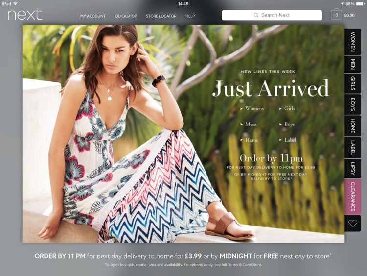 Next for iPad - Fashion & Homeware Shopping screenshot-0