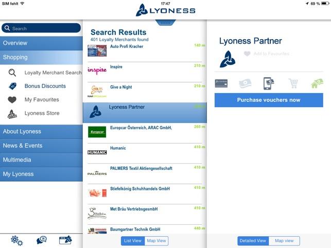 applicazione lyoness
