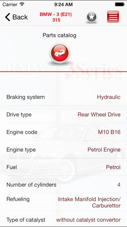 AutoParts BMW 3-series screenshot-3