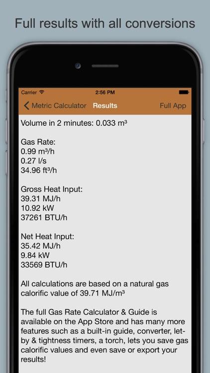 Gas Rate Calculator Lite