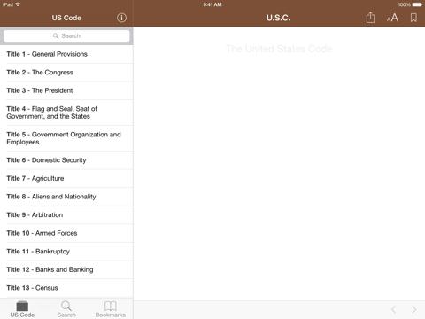 Screenshot #4 pour Codification (U.S. Code)