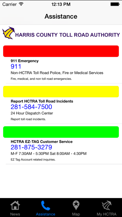 HC Toll Road Authority screenshot two