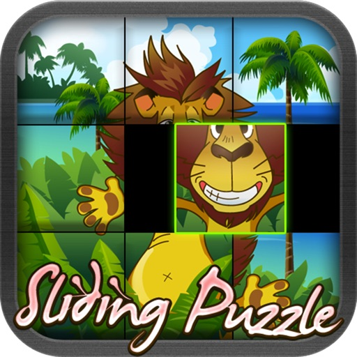 Fun and Learn : Sliding Puzzles - Solving Box Jigsaw Slide Puzzle Game Specially for Kids icon
