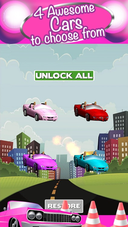 3D Girl Convertible Car Racing Game With Cute Girly Cars And Fun Race Games FREE screenshot-3