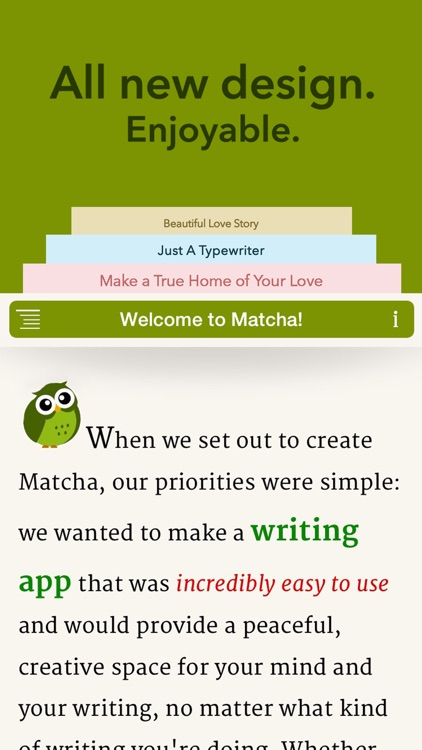 Matcha - Writing App & Text Processor