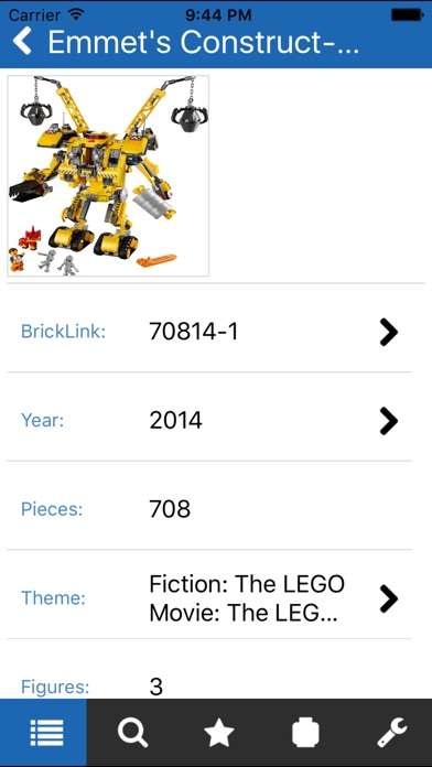 Screenshot for Unofficial Minifigure Catalog in United States App Store