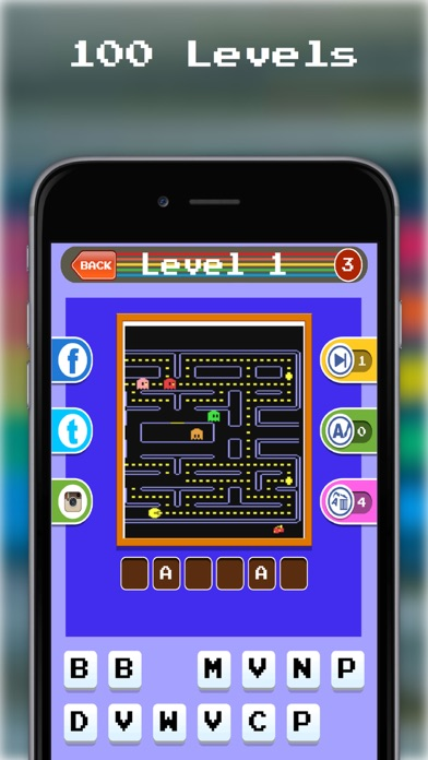 A Classic Retro Video Arcade Game Emulator Trivia iOS Game Version