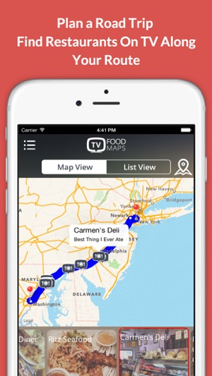 TV Food Maps - Restaurants on TV, Road Trip Planner, Diners, Drive Diners Drive Ins And Dives Road Map on
