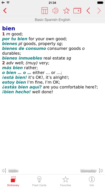 Spanish - English Berlitz Basic Talking Dictionary screenshot-0