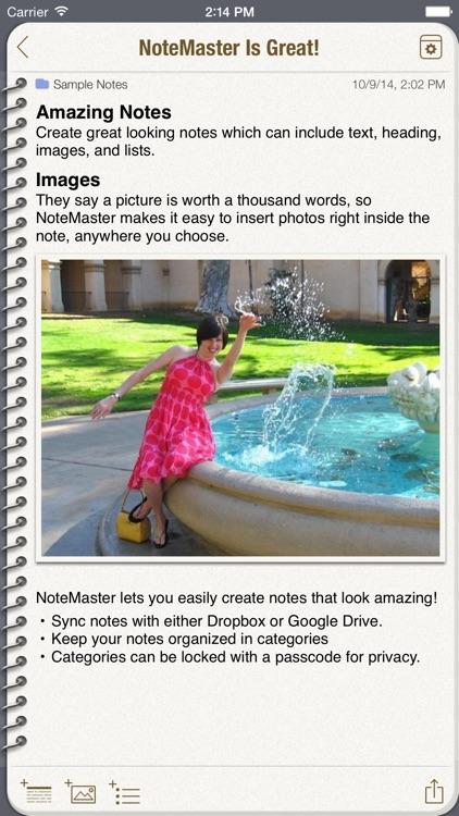 NoteMaster Lite screenshot-0