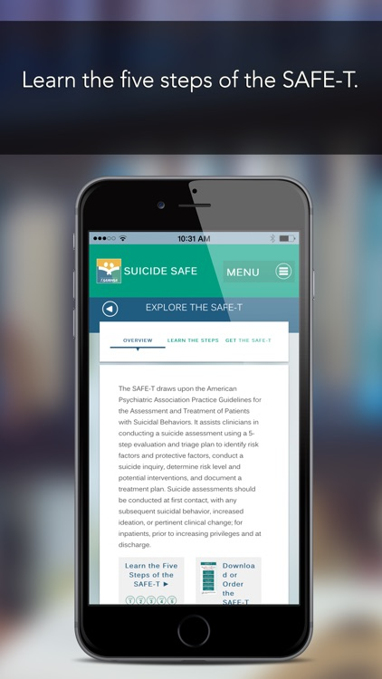 Suicide Safe by SAMHSA ‒ The Suicide Prevention App for Primary Care and Behavioral Health Providers