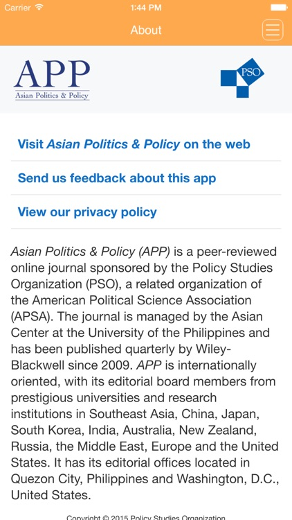 Asian Politics & Policy screenshot-3