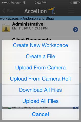 Accellion Mobile App for Good Technology screenshot 2