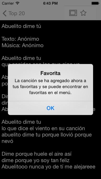 Cancionero - canciones infantiles screenshot-3