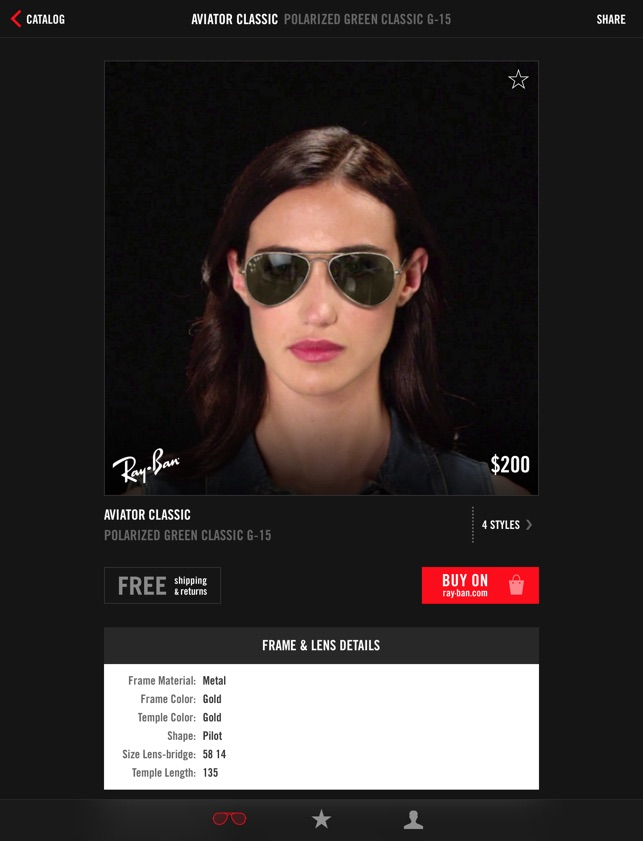 79b1855975  Ray-Ban Virtual Try-On on the App Store