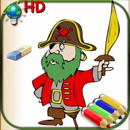 Coloring Book for Boys for iPhone and iPod with colored pencils - 36 drawings to color with dragons, pirates, cars, and more - HD