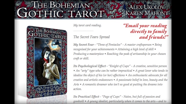 The Bohemian Gothic Tarot on the App Store