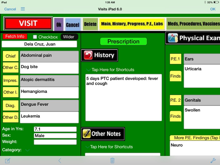 Patient Files for iPad