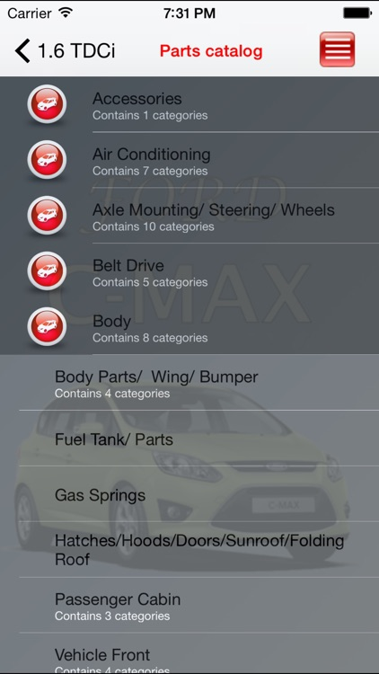 Autoparts Ford C-max screenshot-0