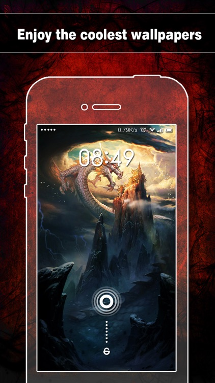 Dragon Wallpapers, Backgrounds & Themes - Home Screen Maker with Cool HD Dragon Pics for iOS 8 & iPhone 6 screenshot-3