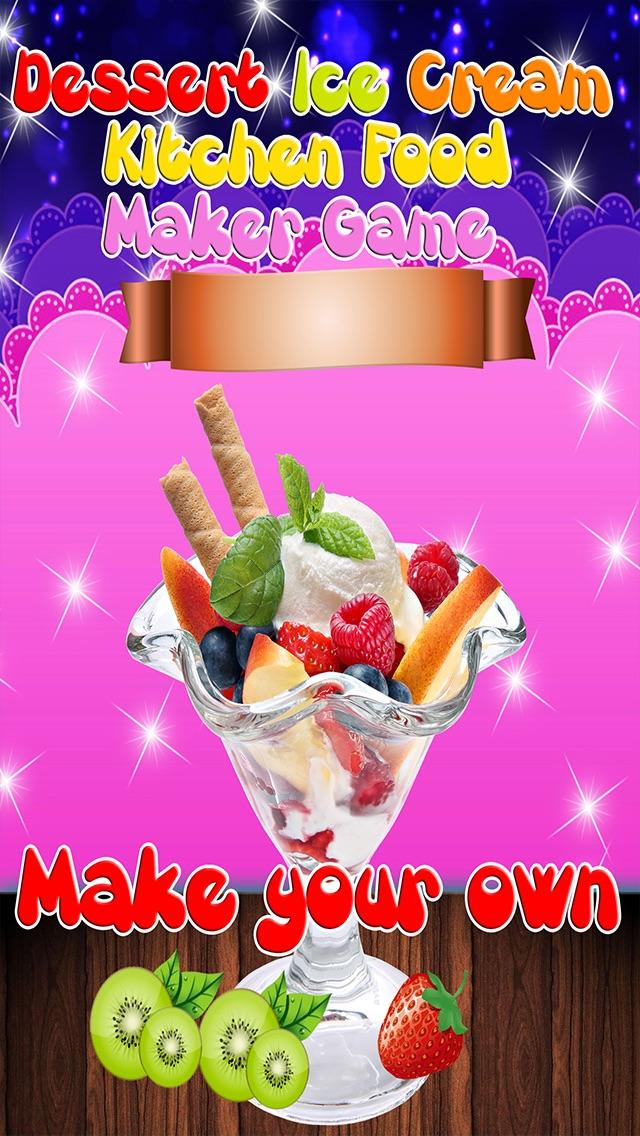 Dessert Ice Cream Kitchen Food Maker Game screenshot one