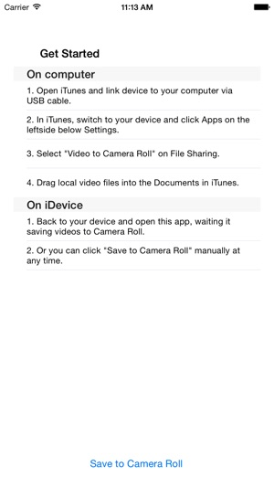Video to Camera Roll on the App Store