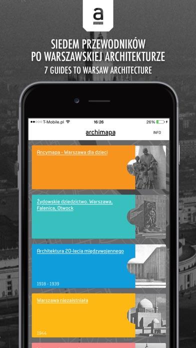 Archimapa - przewodnik po warszawskiej architekturze //  Archimap - mobile guide to the architecture of Warsaw screenshot one