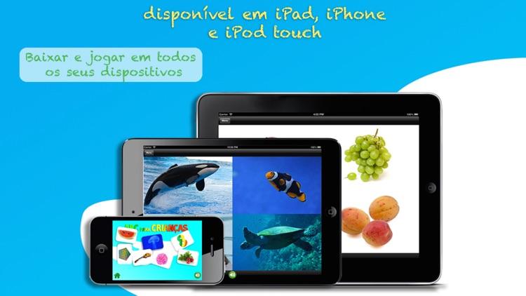 ABC para Crianças: Aprenda Português - Letras, Números e Palavras com Animais, Formas, Cores, Frutas e Legumes Grátis Livre Gratuito screenshot-4