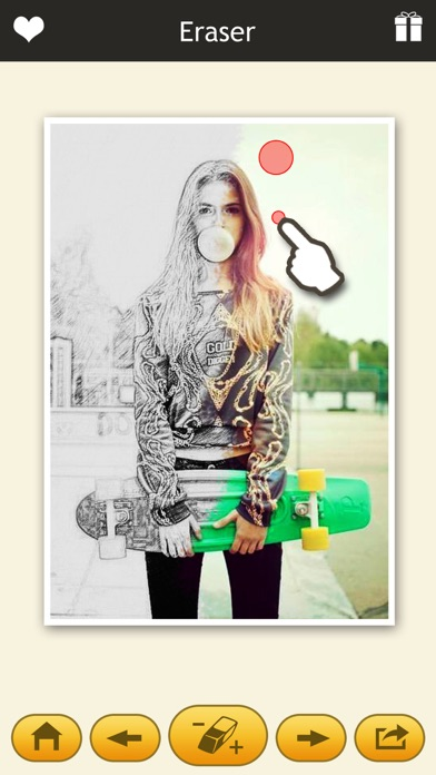 Photo Sketch Eraser - My Pencil Filter & Color Effects Editor-1