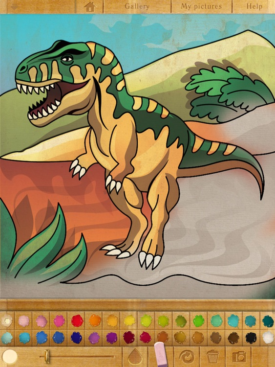 Coloring Book. Dinosaurs. Lite screenshot-0