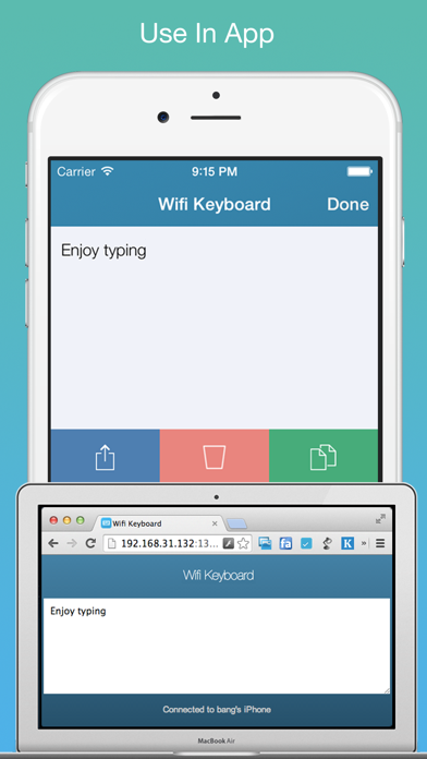 Wifi Keyboard - Connect your keyboard to iPhone/iPad with Wifiのおすすめ画像2