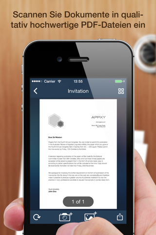 Tiny Scanner+ - PDF scanner to scan document, receipt & fax screenshot 1