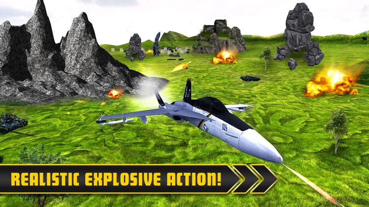 Fighter Jets Tank Attack War 3D
