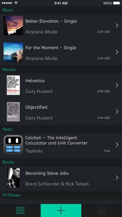 Mentio - App Movie Music Book Wish List