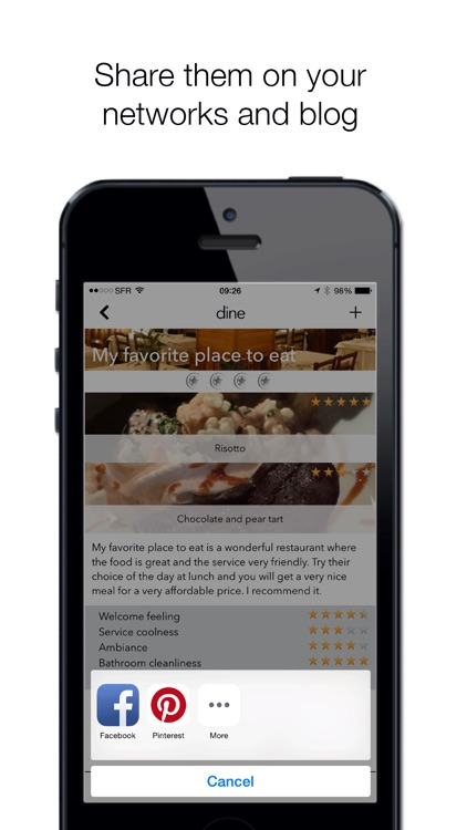 Dine - your restaurant notebook screenshot-4