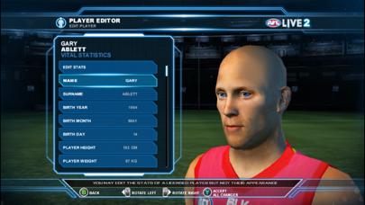 Screenshot from AFL LIVE 2