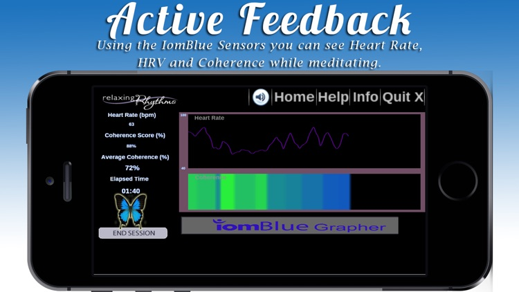 Relaxing Rhythms - Guided Meditation Program Incorporating Active Feedback and Heart Rate Variability For Optimal Results
