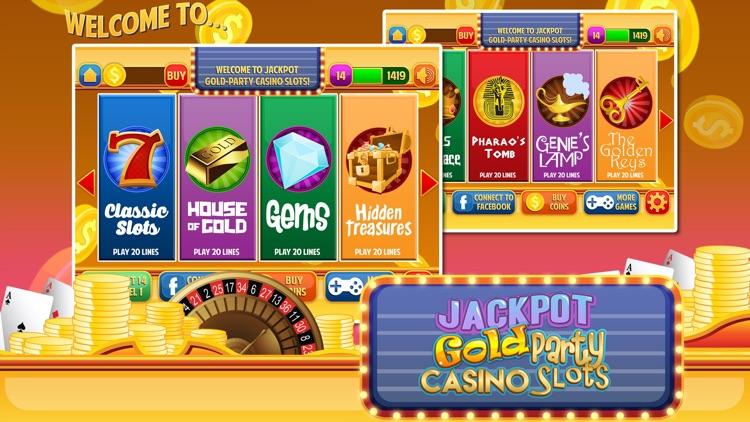 Jackpot Gold Casino Party Slots screenshot-3
